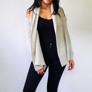 All Saints Small Able Open Marble Gray Cardigan